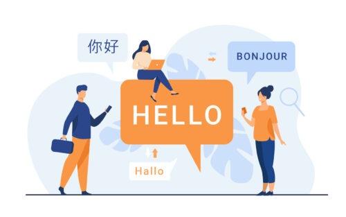 Verschillende talen gebruiken in Magento mensen